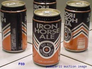 1992 DAYTONA BEACH BIKE WEEK IRON HORSE ALE EVANSVILLE BREWING 47710