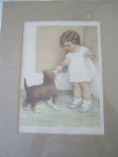 BESSIE PEASE GUTMANN LITHO PRINT THE REWARD ***NEW***