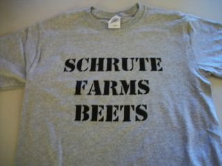 DWIGHT SCHRUTE FARMS BEETS THE OFFICE T SHIRT FUNNY ST