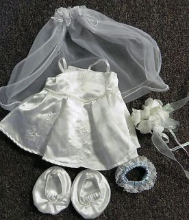 Build a bear Wedding dress & accessories