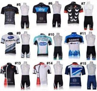Team bicycle bike Cycling clothing wear shirt jersey+ bibs shorts sets