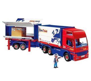 Playmobil 4323 otrans Semi Truck Big Rig Trailer Red RC New Set