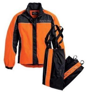 Harley Davidson Womens Tall Orange Hi Vis Rain Suit 98250 10VT
