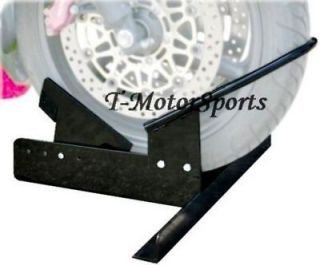Scooter Wheel Chock Bike Stand Trailer Mount Pick Up Floor Truck Bed