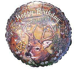 Deer Hunter Hunting Outdoorsman Birthday Party Balloon