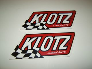 KLOTZ LUBRICANTS MOTOCROSS SNOWMOBILE ATV QUAD UTV MOTORCYCLE STICKERS