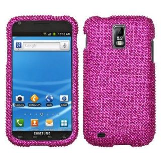 Hot Pink Crystal BLING Case Phone Cover for T Mobile Samsung Galaxy S
