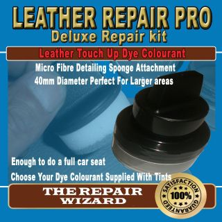 New Leather & Vinyl Repair Dyes With Unique Applicator Sponge All
