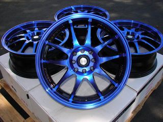 15 Blue Black Effect Wheels Rims 4x100 Yaris Integra Aveo Cobalt