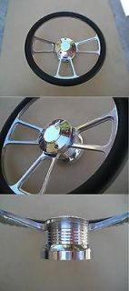 Chrome horn Billet steering wheel + Adapter 4 Buick Camaro Chevelle