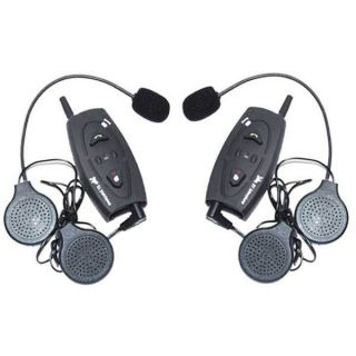 2x Riders Motorcycle Bluetooth Interphone Headsets Skiing Intercom