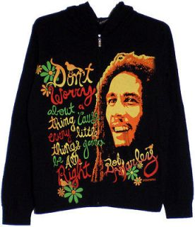 Bob Marley 3 Little Birds Juniors Zip Up Hoodie