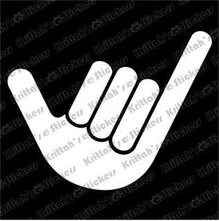 STOKED HAND #2 Vinyl Decal 5x4 car wall sticker surfboard symbol Rip