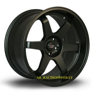 19 Rota Grid Rims Flat Black 19x9.5 +15 5x114.3 Genesis 08 09 11 EVO