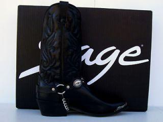 Abilene Mens Black Concho Ankle Bracelet Cowboy Boots