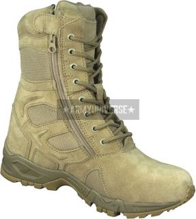 Desert Tan Side Zipper Deployment Combat Boots