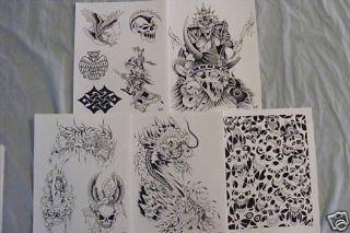 Tattoo Flash   Set F  10 Sheets of Quality Designs $$$