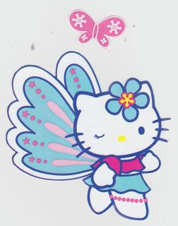 HELLO KITTY BUTTERFLY WALL BORDER SET PEEL & STICK CHARACTER