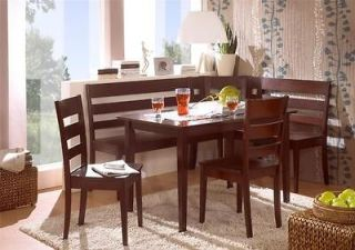 solid wood corner bench, kitchen booth breakfast Nook set table