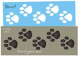 STENCIL 4 Animal Track Dog Cat Pet Border Wall Art Craft Sign U Paint