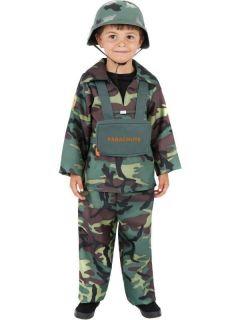Kids Army Boy Military Soldier Fancy Dress Costume