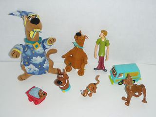 SCOOBY DOO PVC TOY FIGURE MIXED 8 toys BURGER KING PLUSH MYSTERY