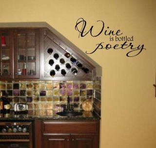 wine wall decals in Decals, Stickers & Vinyl Art