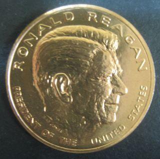Mint President Ronald Reagan Bronze 34 mm Medal