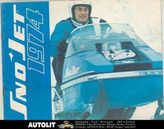 1974 Sno Jet Strato Jet Astro Jet SST Sabre Jet Whisper Jet Snowmobile