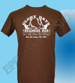 Bruce Springsteen Inspired T Shirt The Boss Glory Days Born In The USA
