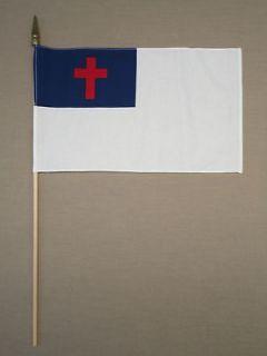 Christian Cross Grave Marker Handheld Flag 12 X 18