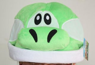 Super Mario Bros Green Yoshi Plush Costume Hat Cosplay Cap