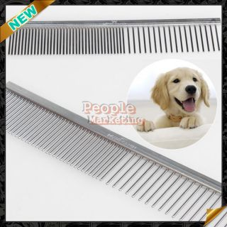 Fine Stainless Steel Teeth Comb Puppy Pet Dog Cat Animal Hair Grooming