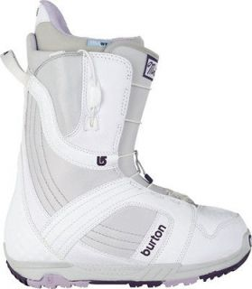 2012 Burton Mint White Gray Purple 7.5 Womens Snowboard Boot