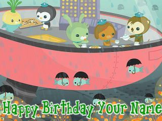 Octonauts   d   Edible Photo Cake Topper   Personalized   $3.00