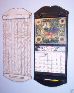 Handmade Primitive Style Calendar Holder   Color Choice