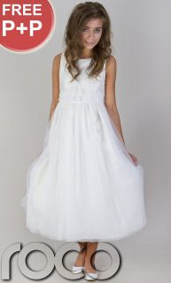 Flower Dress Wedding Prom Party Flower Girl Dress Age 1   14 Years
