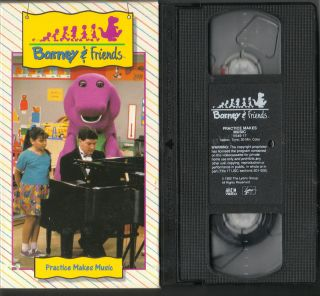 Video #17 Barney & Friends PRACTICE MAKES MUSIC 1992 VHS RARE & OOP