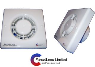 Manrose XF100T Timer Toilet Extract Fan 3 Year Warranty