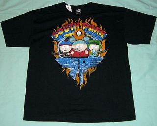 South Park Cartman, Kyle, Stan, Kenny Van Halen Logo T Shirt   M   NWT