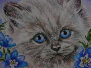 ACEO Himalayan Cat kitten animal print of painting