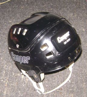 VINTAGE COOPER SK 600 BLACK HOCKEY HELMET HURLING LARGE ADULT SIZE