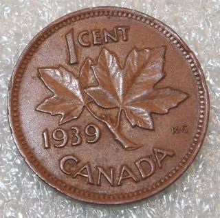 1939 Canada Canadian PENNY 1 one CENT small cent COIN