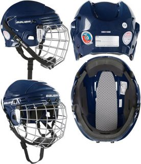 New Bauer 2100 Hockey Helmet w/ Face Cage   Navy
