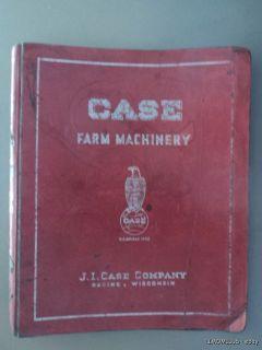 Vinage JI Case Farm Machinery Dealer Eagle Logo Caalog Binder c.1937
