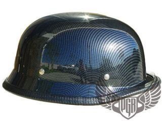 Low Profile Carbon Fiber German Style DOT Motorcycle Half Helmet
