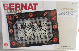Bernat KT267 DALMATIONS Dogs Latch Hook Kit 27 x 40 Rug Wall Hanging