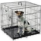 24 Folding Heavy Duty Pet Crate Kennel Wire Cage for Dog Cat