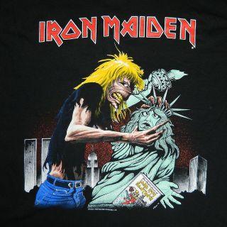 NOS VTG IRON MAIDEN NEW YORK 1992 EVENT T SHIRT CONCERT TOUR 90S
