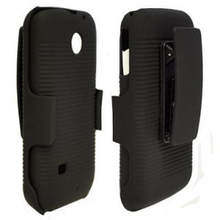 Skin Shell Holster Belt Clip Cover Case+Stand for Huawei Ascend 2 M865